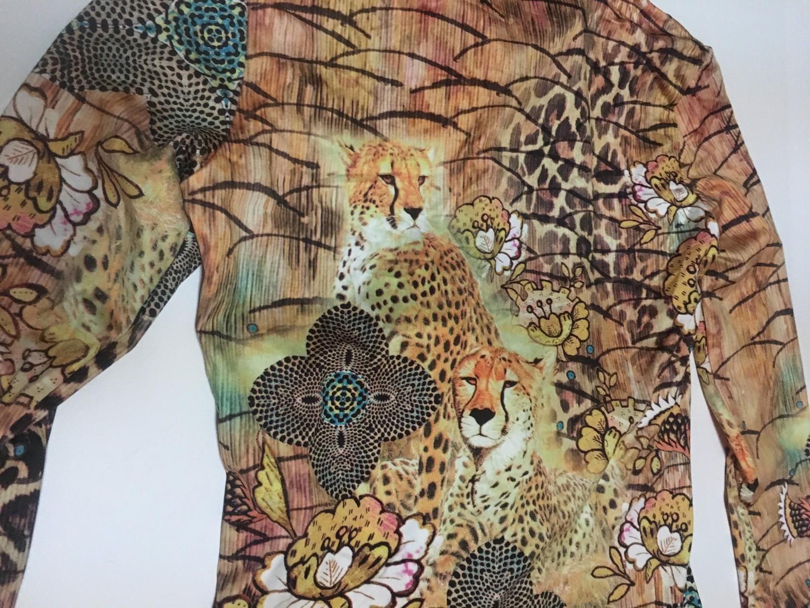 Boho Chic Animal Print Blouse Top NWT Sz M Made NY USA
