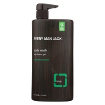 Every Man Jack Body Wash Eucalyptus Mint Body Wash - Case of 33.8 - 33.8... - $18.72