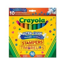 Crayola Ultra, Clean Washable Stampers Markers, 10 CT, School and Craft...  - $14.82
