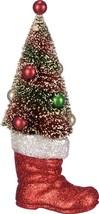 PBK Christmas Decor - Sisal Bottlebrush Tree in Santa's Boot - $24.95