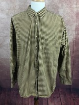 American Eagle Outfitters Button Down Long Sleeve Brown Check Shirt Men's XL - $14.84