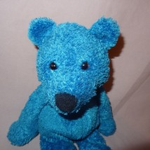 "Teddy Bear Blue Plush Stuffed Animal 11"" Bean Bag Toy - $9.99"