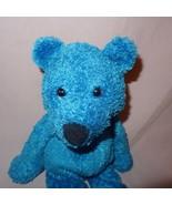 "Teddy Bear Blue Plush Stuffed Animal 11"" Bean Bag Toy - $9.99"