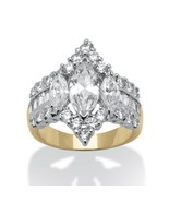 4.91 TCW CZ 14k Yellow Gold-Plated Engagement Anniversary Ring - $44.82