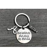 Personalized US Army She Believed She Could So She Did Keychain with Let... - $13.50