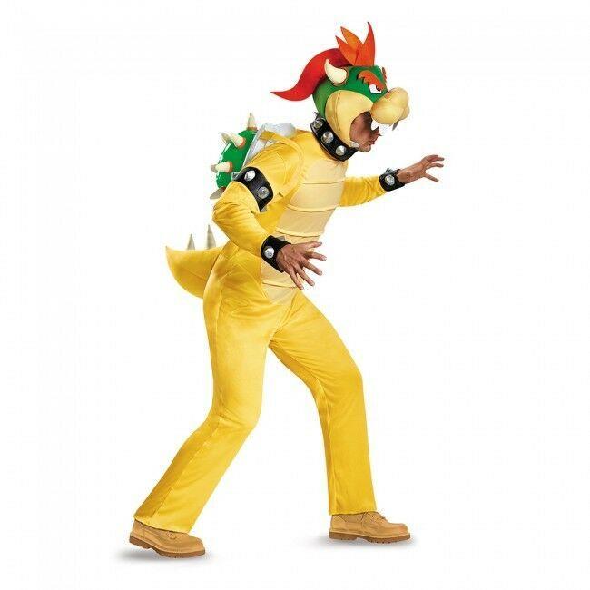 Disguise Super Mario Bros Bowser Deluxe Pfirsich Erwachsene Halloween Kostüm