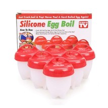 Silicone Egg Boil 6Pcs Egg Cooker Hard Boiled Without Shell Eggs  - $11.56 CAD