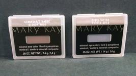 Lot of 2 Mary Kay Mineral Eye Colors, 013038 Cinnabar & 013011 Steel, 0.... - $8.80