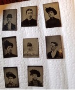 ANTIQUE TIN-TYPE PHOTOGRAPH PHOTO LOT: VARIOUS SIZES  OF MEN & WOMEN  1800s - $78.21