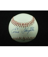 ENOS SLAUGHTER Single Signed Baseball  (d.2002) 1942 1946 Cardinals 1956... - $73.45