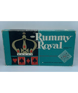 Vintage 1962 Rummy Royal Green Box Table Size Game Sheet # 4713 Vinyl Ma... - $49.49