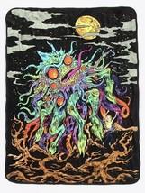 """Rick & Morty Monster Rick Super Plush Throw Blanket 50"""" X 60"""" - $32.17"""