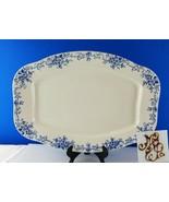 "Antique Large 19"" x 13"" Blue Transferware Platter - $94.05"