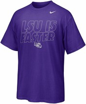 LSU Tigers Nike Chrome Package LSU is Faster Men's / Ladies T-Shirt - $4.95