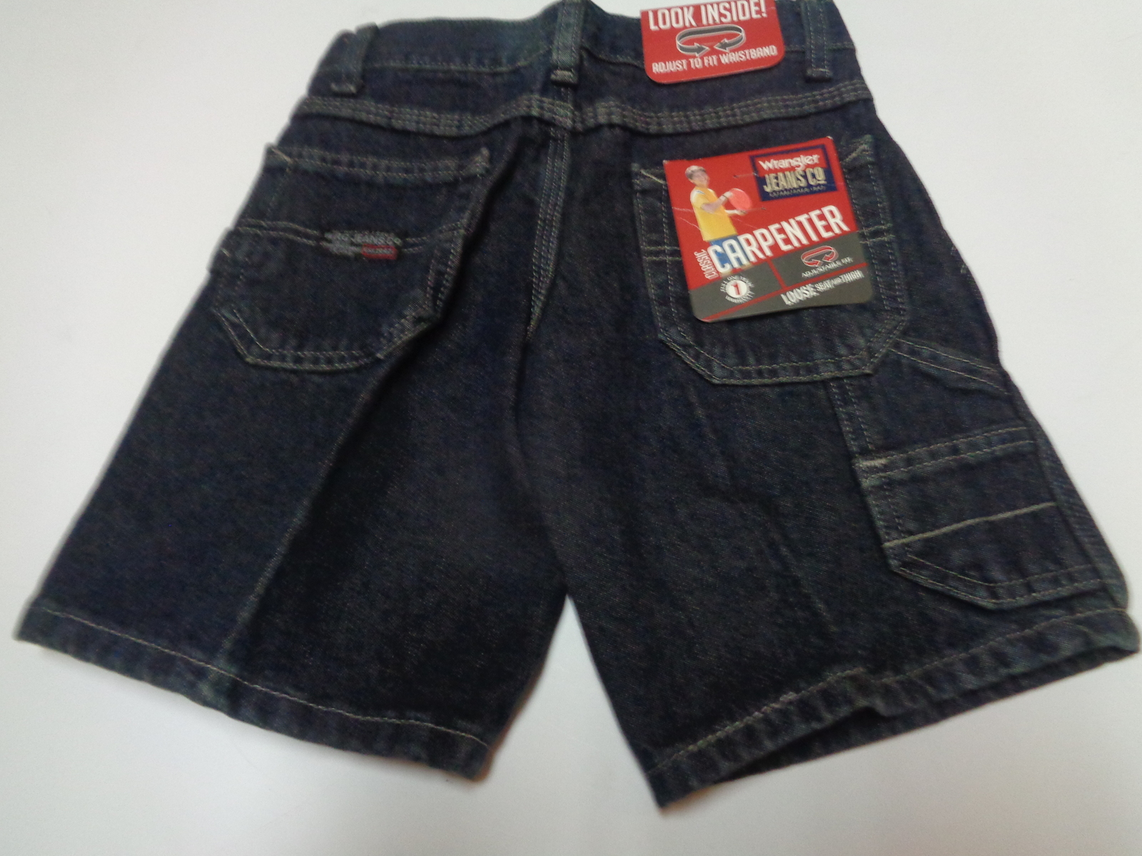 Wrangler Boys Blue Jean Shorts NWT Youth SZ 5 Regular Carpenter