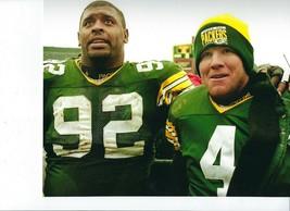 BRETT FAVRE & REGGIE WHITE 8X10 PHOTO GREEN BAY PACKERS PICTURE NFL FOOT... - $3.95