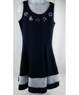 Little Girls Dress Love To Dress Sleeveless Rhinestone Embossed Navy/Whi... - $4.94