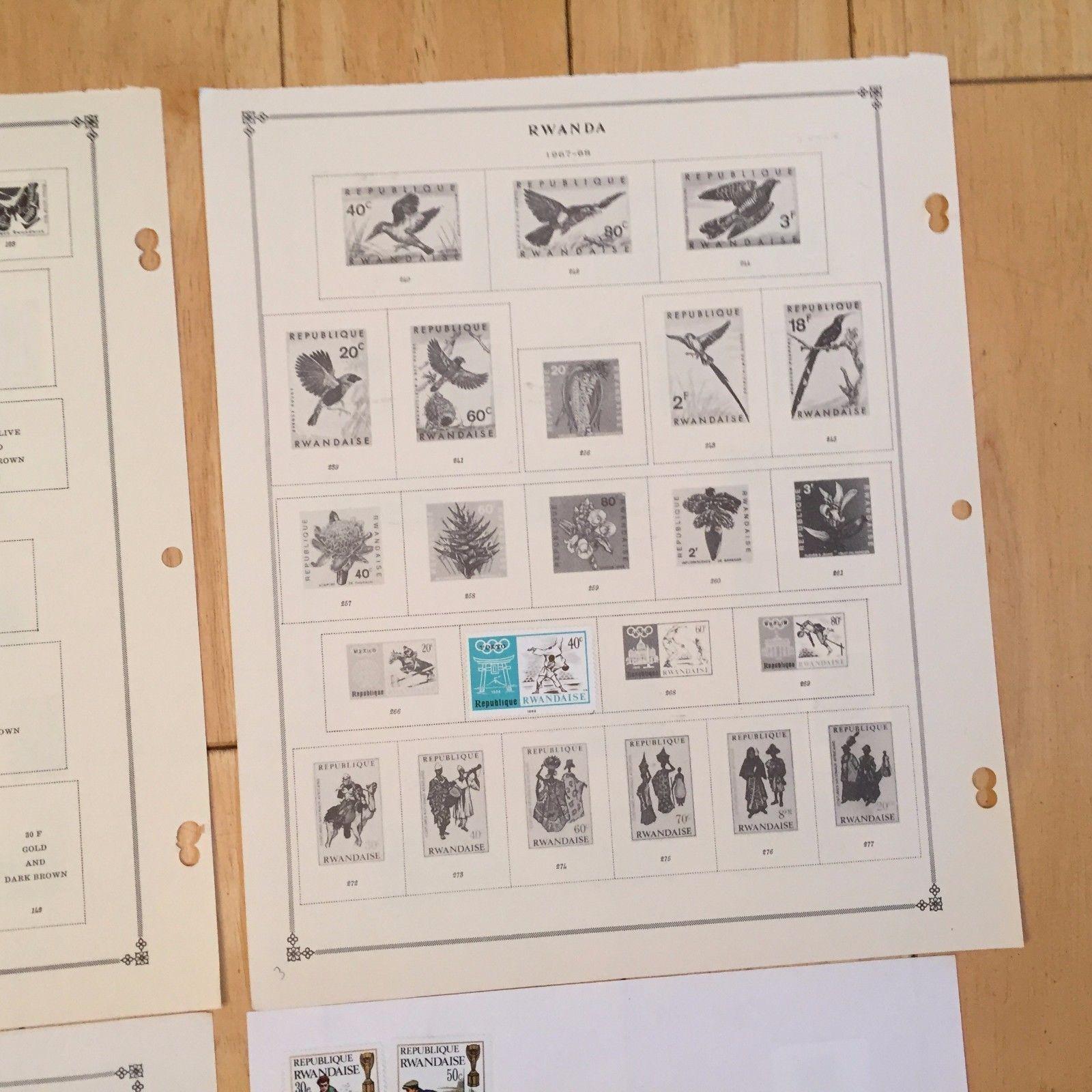 G59 Rwanda 1964 - 1974 Hinged Stamps Scott and Plain Sheets Olympics Republique