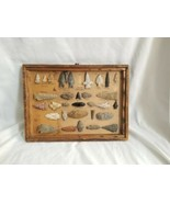 Vintage Native American Arrowheads Lot X 33 pointers some big size displ... - $1,272.15