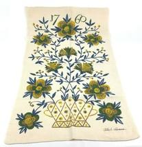"""Vintage Kay Dee 1760 Floral Colonial Linen Tea Towel John L Gieroch 30"""" ... - $14.59"""