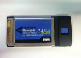 Linksys WPC54GS Wireless-G Notebook Adapter 2.4GHz 802.11g PCMCIA - $10.00
