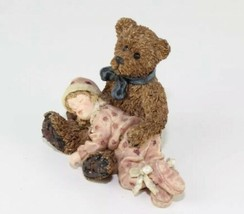 1995 Boyds Bear Yesterdays Child Shelby Asleep In Teddy's Arms Edmund Bear image 2