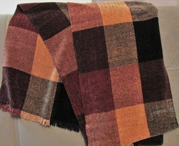 Plush Soft Men's Scarf by fritteli & LOCKWOOD Rich Brown Tones with Black - £10.60 GBP