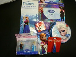 Disney Frozen 7 Piece Lot - Art Tote, Keychains, Picture Frame and More - $12.86