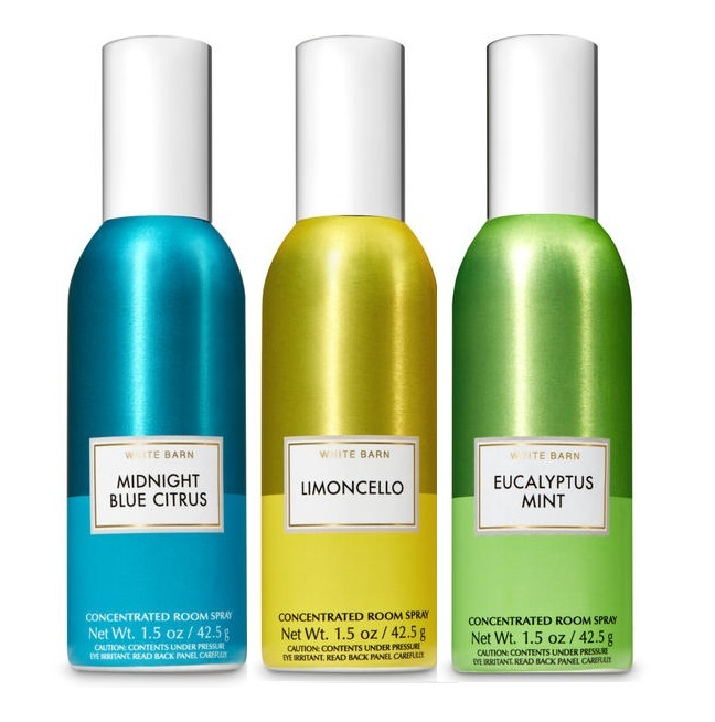 Primary image for Bath & Body Works Room Spray 3 Pack- Limoncello Eucalyptus Midnight Blue Citrus