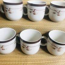 Permastone Stoneware 318 Prestige Brown Vintage Coffee Mugs - $62.37