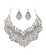 ACCESSORIESFOREVER Bridal Wedding Prom Jewelry Set Crystal Rhinestones S... - $32.40
