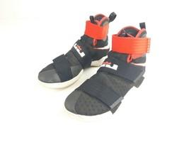 Men's Nike LEBRON Soldier 10 Ten Black/Red 844374-016 Basketball Shoes S... - $49.49