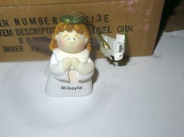 CHRISTMAS ORNAMENTS WHOLESALE- LITTLE ANGELS- 'MIKAYLA' -  (6) - NEW -S1 - $5.83