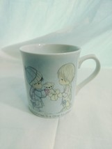 "Vintage Precious Moments 1985 Holiday MUG ""Christmas is a time to Share""  - $11.74"