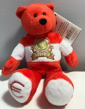 Limited Treasures Austria Euro Coin Stsuffed Plush Bear New Osterreich - $7.99