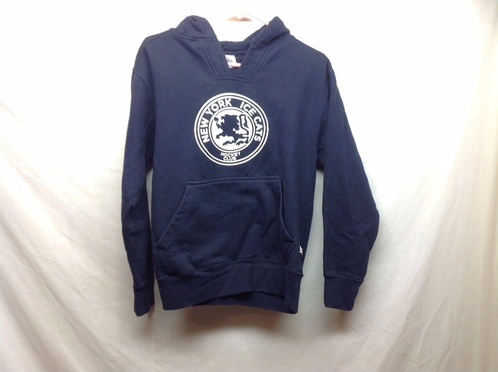 New York Ice Cats Dark Navy Blue Sweatshirt Hoodie Sz XS