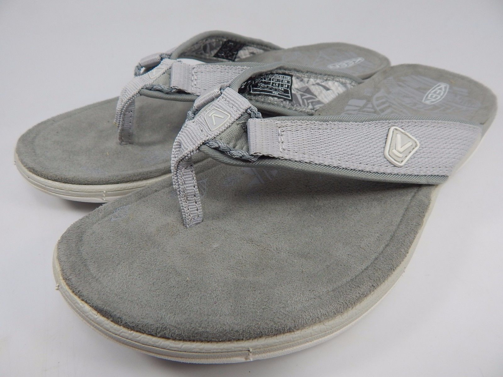 Keen Maya Flip Women's Sports Sandals Sz US 7 M (B) EU 37.5 Gray Scale