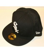 MLB Chicago White Sox New Era 59FIFTY Fitted Monogram Black Baseball Size 8 - $39.99
