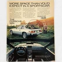 Vintage 1977 Magazine Print Ad Porsche 924 Sports Car Audi 8 x 10 - $6.62