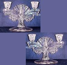 Paden City Glass Maya Double Socket Candlesticks PAIR - $49.99
