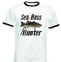 SEA BASS HUNTER - NEW BLACK RINGER COTTON TSHIRT - $27.51