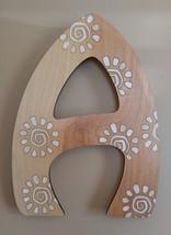 Bohemian style letter art boho letters wall decor hand painted birch lar... - $8.00