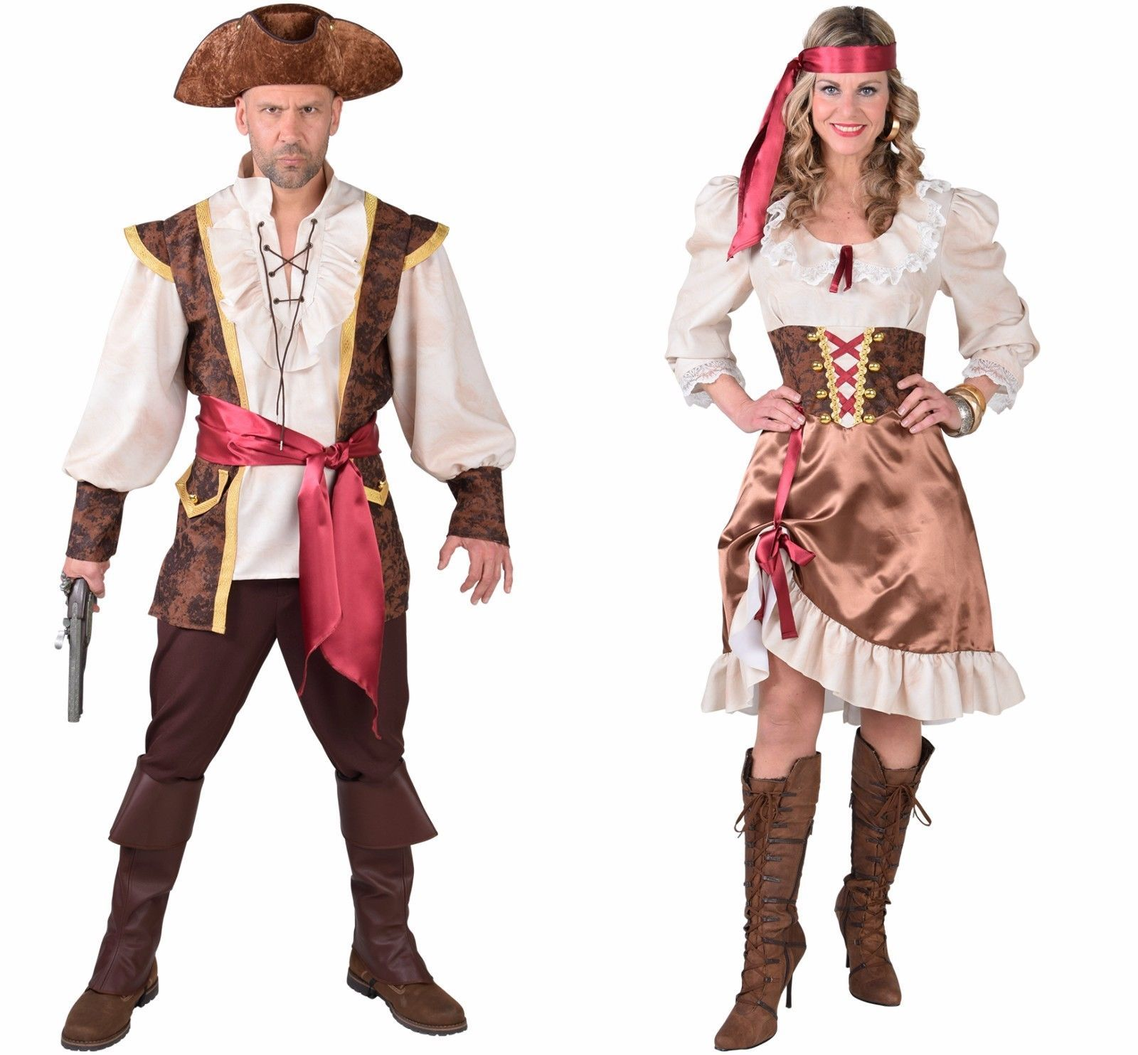 Pirate Man - Waistcoat style , XS - XXL includes Hat