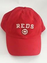 CINCINNATI REDS HAT NIKE RED STITCHED ADJUSTABLE BASEBALL CAP PRE-OWNED - £4.44 GBP