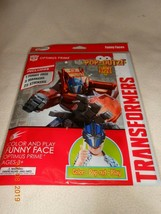 NEW Optimus Prime Transformers Color & play Funny Face w/ markers & stic... - $6.44