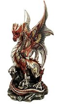 """Ebros Ruler Of Pantagonia Steampunk Cyborg Dragon Statue 10.5""""Tall Gearwork Cybe - $54.99"""