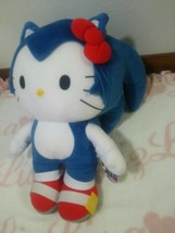 limited sonic Hello Kitty Collaboration stuffed Plush Doll kawaii Sanrio... - $117.81