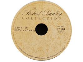 "Hobby Lobby Robert Stanley Collection Chevron Glitter Ribbon, 2.5"" x 18 Feet image 2"