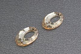 Swarovski Crystal style 6040 Helios Crystal Pendant 20mm x 13mm Gold Sha... - $3.95
