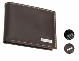 Tommy Hilfiger Men's Premium Leather Passcase Billfold Wallet 31Tl22X053